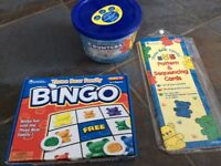 Learning resources bingo and card game with bucket of counters