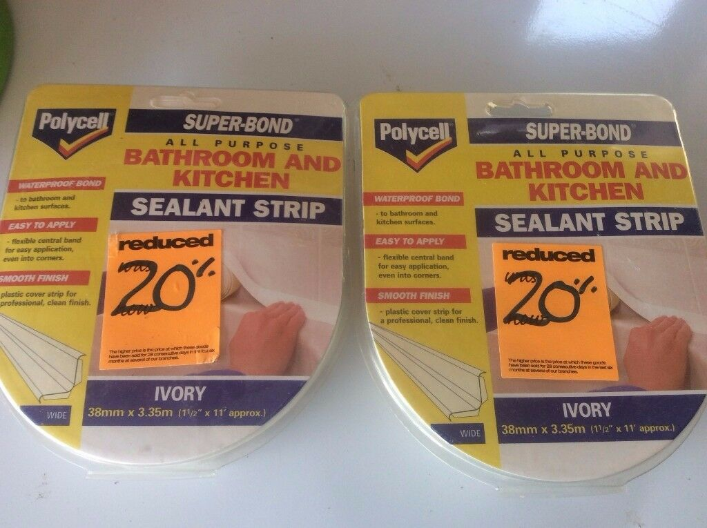 Bathroom and Kitchen sealant strip in ivory