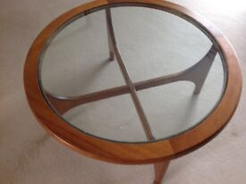 Bespoke, solid beech wood coffee table with glass