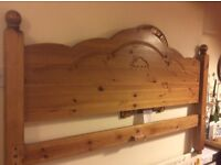 Very comfortable Pine Double bed .sleep like a baby great quality just changing to sofa bed.