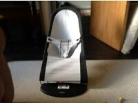 BabyBjorn black and grey baby seat