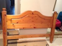 Solid pine headboard for double bed good condition