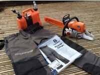 STIHL MS251C 18 inch bar, Combi Oil/Fuel Can, Chainsaw Trousers and Tool Kit