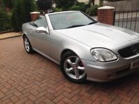 Mercedes Slk converable. Silver. Red leather interior. MOT June 19. New tyres. Great condition.