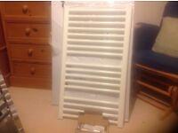 Towel Rail white 862x500mm new boxed c/w fittings