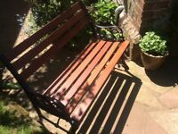Mahogany garden seat