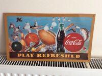 Coke cola tin sign