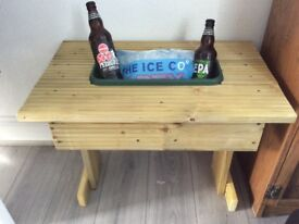 Small garden table with trough ideal for ice and beers or plants
