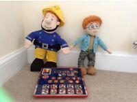 Talking fireman Sam and talking naughty Norman and game
