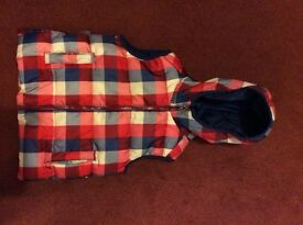 Blue Zoo checked body warmer age 4-5