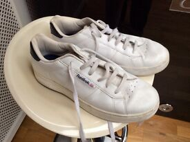 White reebok trainers size 10