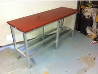 20mm thick poly top meat cutting table