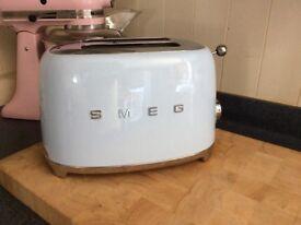 Smeg blue toaster