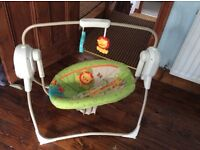 Fisher price rainforest space saver cradle and swing