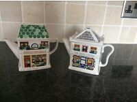 Wade English Life of Teapots. FISH AND CHIP SHOP / THE QUEEN VICTORIA PUB Collectables