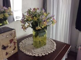 Artificial flower Vase £5