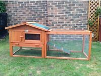 Rabbit guinea pig hutch and run 3 weeks old