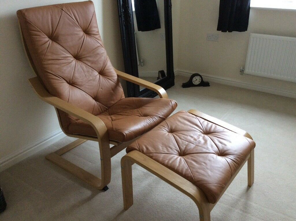 Ikea poang relaxer and stool