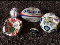 Assorted football & rugby balls