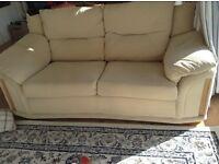 2 cream DFS sofas excellent condition