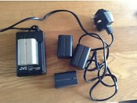 4 off 7.2v Li Ion battery including JVC AC Charger