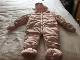 Quilted baby Pram suit age 6-9 months