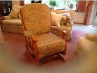 Rocker fireside armchair