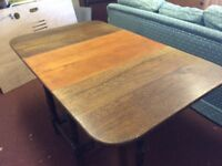 Old drop leaf gateleg table.