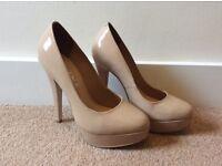 Nude Gloss Heels (Size 5)