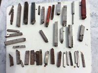 Job lot of Lathe turning tools