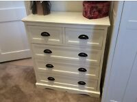 Cream Chest of Drawers 3 + 2.