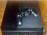 Ps 4 with controller and two games