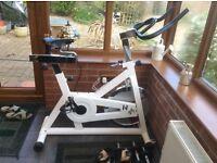 Kelly Holmes spin bike
