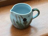 Buchan Portobello Stoneware Milk or Cream Jug in Scottish Thistle Design.