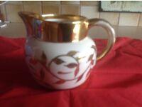 18 carat gold hand painted jug, Number 2782 Dante.