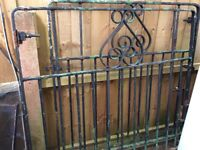 Used garden gates. Original to the home. Rusty in parts. A couple of different colour layers
