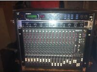 mackie mixing desk with extras plus case