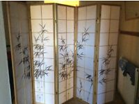 Natural Bamboo Shoji Screen/Room Divider 5 Panels Superb Quality