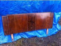 pair of 1920s art deco double bed headboards