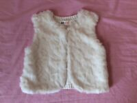 Girl knitted fur gilet, Aged 2-4 years