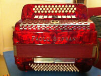 Paolo Soprani 3 row button accordion 80 bass with case