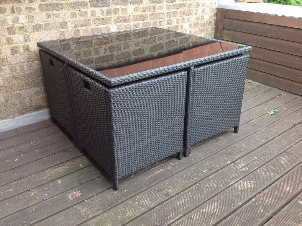 Garden Furniture Gumtree rattan 4 seat cube garden furniture - modern and comfy | in ely