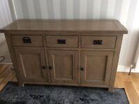 Rustic soldid oak sideboard