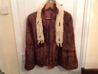 Fur cape/coat