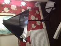 photography studio effect lighting and tripod