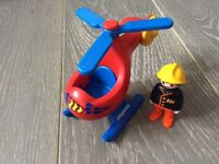 Playmobil 1.2.3 Series Fire Rescue Helicopter