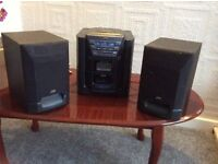 JVC Radio, Casette & CD player with Speakers