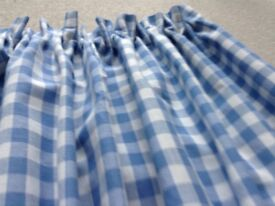 LAURA ASHLEY GINGHAM CHECK CURTAINS *** BRAND NEW ***