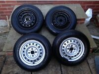 Toyota Yaris x4 spare wheel with tyres