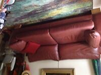 3/4 seat leather sofa for sale